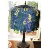 "30"" Vintage Tiffany Style Lamp Wisteria 3-bulb"