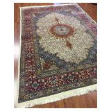 Antique Persian Birjand Rug (Mood w. Fish Design)