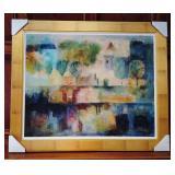 """36"""" Vintage Siged Oil Painting Maharobeli 52/295"""