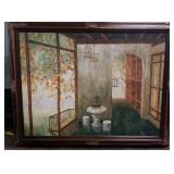 """56"""" Vintage XLG Signed Oil on Canvas 56x44"""""""