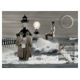 25) Eclipse - 50 X 70 Surreal Artwork: LE, Signed