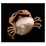 Designer Vintage Estate Crab Pin by Gerry