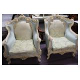 Fine French Provencial Bergere Vintage Reprod. Woo