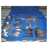 Fine Vintage Solid Sterling Silver Dining Service