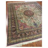 Fine Chimo Silk Rug with Persian Medallion Design