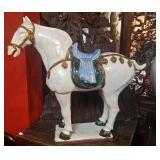 Large Vintage Chinese Ceramic Horse