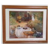 Large Vintage Lithograph Claude Monet French Count