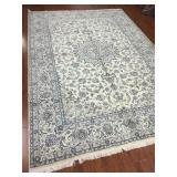 Fine Persian Nain Ivory Rug #575