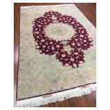 Floral Persian Tabriz Rug of Wool & Silk #560