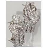 Vintage 18K Gold Diamond Earring Clips 2.00ctw, 13