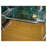 Rare c1979 Solid Lucite Desk Signed by Artist Jeff