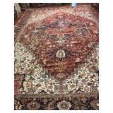 Indian Wool Rug  12.2 x 9.1 #2260