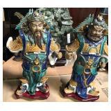 Rare Chinese Art Pair of Porcelain Sculptures