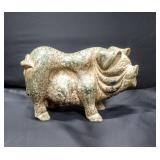 Ancient Chinese Jade Sculpture of a Pig 6-lbs, 8x6