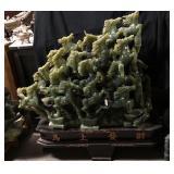 Rare Chinese Jade Jadeite Sculpture 60x50x16-inche