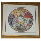"""40"""" Signed Marc Chagall Paris Opera Ceiling"""