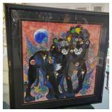 """45"""" Original Signed Serigraph """"The Royal Couple"""""""