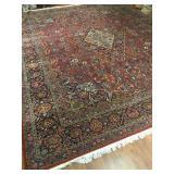 Persian Kashan Rug  13.8 x 6.9 #608