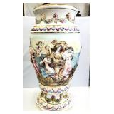 "Vintage Capodimonte Ceramic Vase 22"""