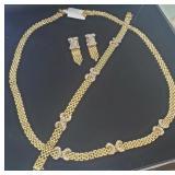 Vintage Cartier 14K Gold Diamond Jewelry Set 63gr