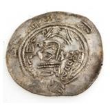 Ancient Islamic Silver Coin Arab Sassan 700 AD