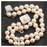 Vintage Diamond & Majorca Pearl Strand of Spain 29
