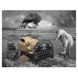59) Dead Sleep - 60 X 45 Surreal Artwork: LE, Sign