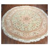 Very Fine Persian Pastel Round Rug #584 8.3 x 8.3
