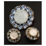 Vintage Estate Jewelry Set 3 pcs 44mm