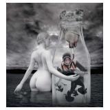 70) Pasteurization - 53 X 58 Surreal Artwork: LE,