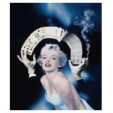 71) Monroe in Blue - 45 X 55 Surreal Artwork: LE,