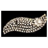 Vintage Estate Rhinestone Jewelry Pin 63mm