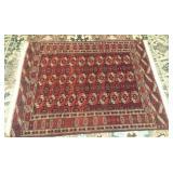 "Antique Afghani Rug 70x50"""