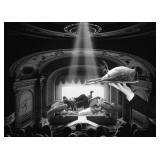 8) Cinéma - 58 X 42 Surreal Artwork: LE, Signed &
