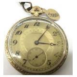 Vintage Hamilton Gold Pocket Watch