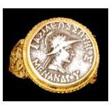 Certified Ancient 22K Gold Indo-Greek King