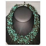 Vintage Handmade Bead Necklace 165.00 gr