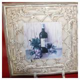 "Vintage Italian Bistro Tile Art in Holder 18x13"","
