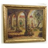 Antique c1917 Original Oil on Canvas Signed Franci