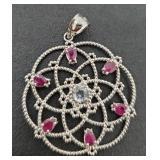 Vintage Silver Genuine Gemstone Jewelry 4.60 gr