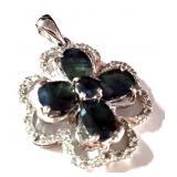Vintage Silver Genuine Gemstone Jewelry 6.60 gr