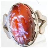 Rare Old African Benin Scarab Ring 6.6gr