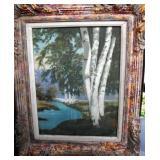 """Antique Original Oil Painting Signed 21x17"""""""