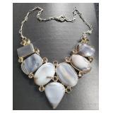 Vintage Silver Genuine Gemstone Jewelry Agate 162.