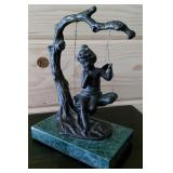 """Antique Signed French Bronze by Auguste Moreau 7"""""""