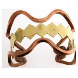 Vintage Solid Copper & Brass Cuff Bangle 53gr
