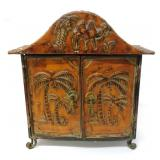 Vintage Solid Copper Cabinet w. Tommy Bahama/Safar