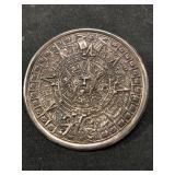 Vintage Sterling Silver Aztec Calender Brooch or P