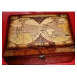 Vintage Wooden Trinket Box 12x8, 3-lbs