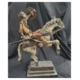 Rare Salvador Dali Don Quixote Sculpture 4.5-lbs,